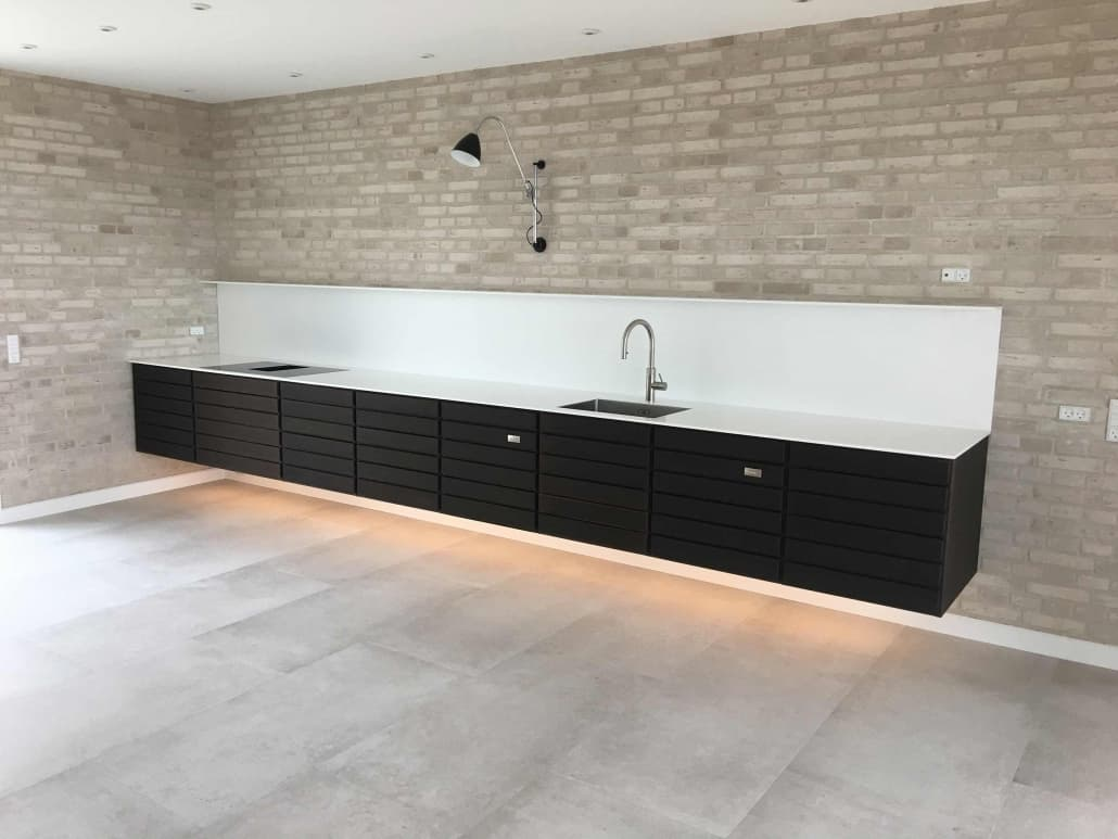 Køkken i nybygget hus